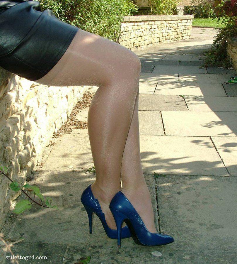 In high heels | Heels, Blue stilettos, High heels