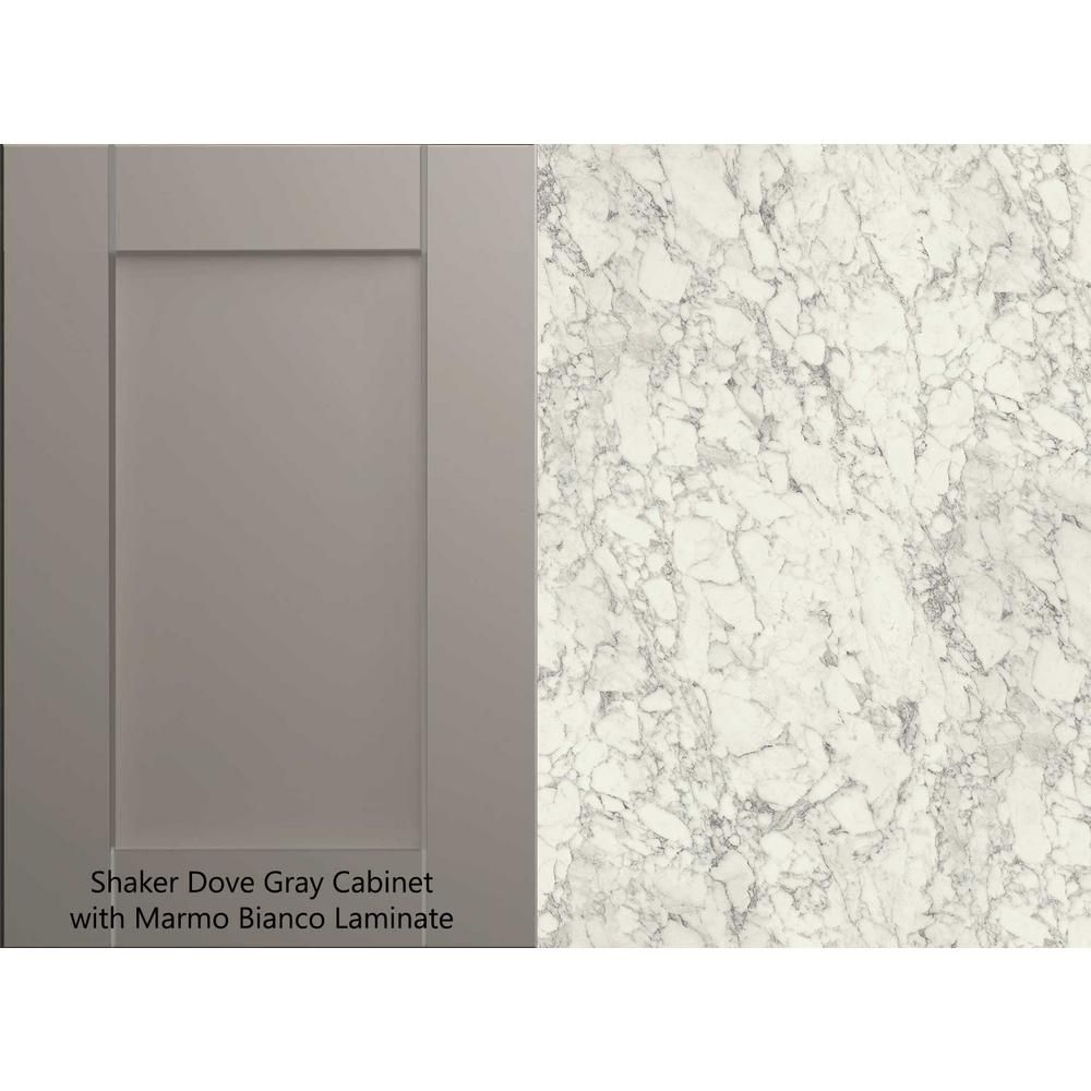 Hampton Bay 8 Ft Laminate Countertop Kit In Marmo Bianco Marble With Valencia Edge 12337kt08n1885 The Home Depot Laminate Countertops Countertop Kit Countertops