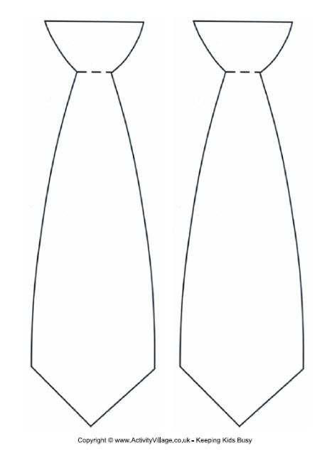 Tie Template Tie Template Fathers Day Crafts