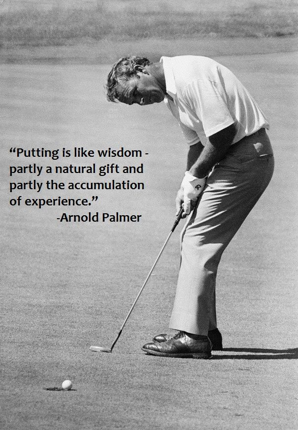 Keep working on your short game. It can win tournaments.