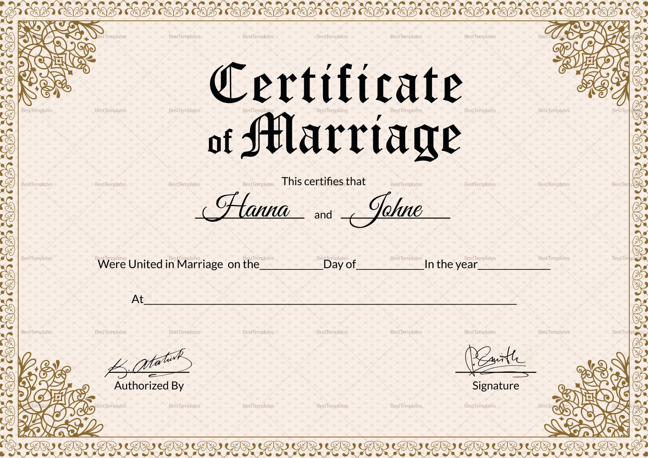 Microsoft Office Marriage Certificate Template Elegant Keepsake Marriage Certifi Marriage Certificate Template Marriage Certificate Marriage Certificate Design