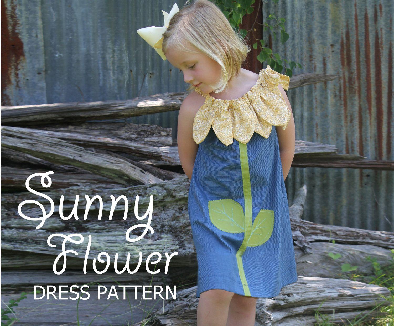 Sunny Flower Pillowcase Dress - Girl Sewing Pattern - Christmas Dress PDF Pattern Easy Sew Sizes thru 10 included & Sunny Flower Pillowcase Dress - Girl Sewing Pattern - Child ... pillowsntoast.com