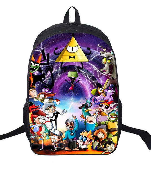 1cc6e72ae5 16 Inch Cartoon Children Backpack Student School Bags School Gravity Falls  Mochila for Teenage Kids Boys Girls Gift