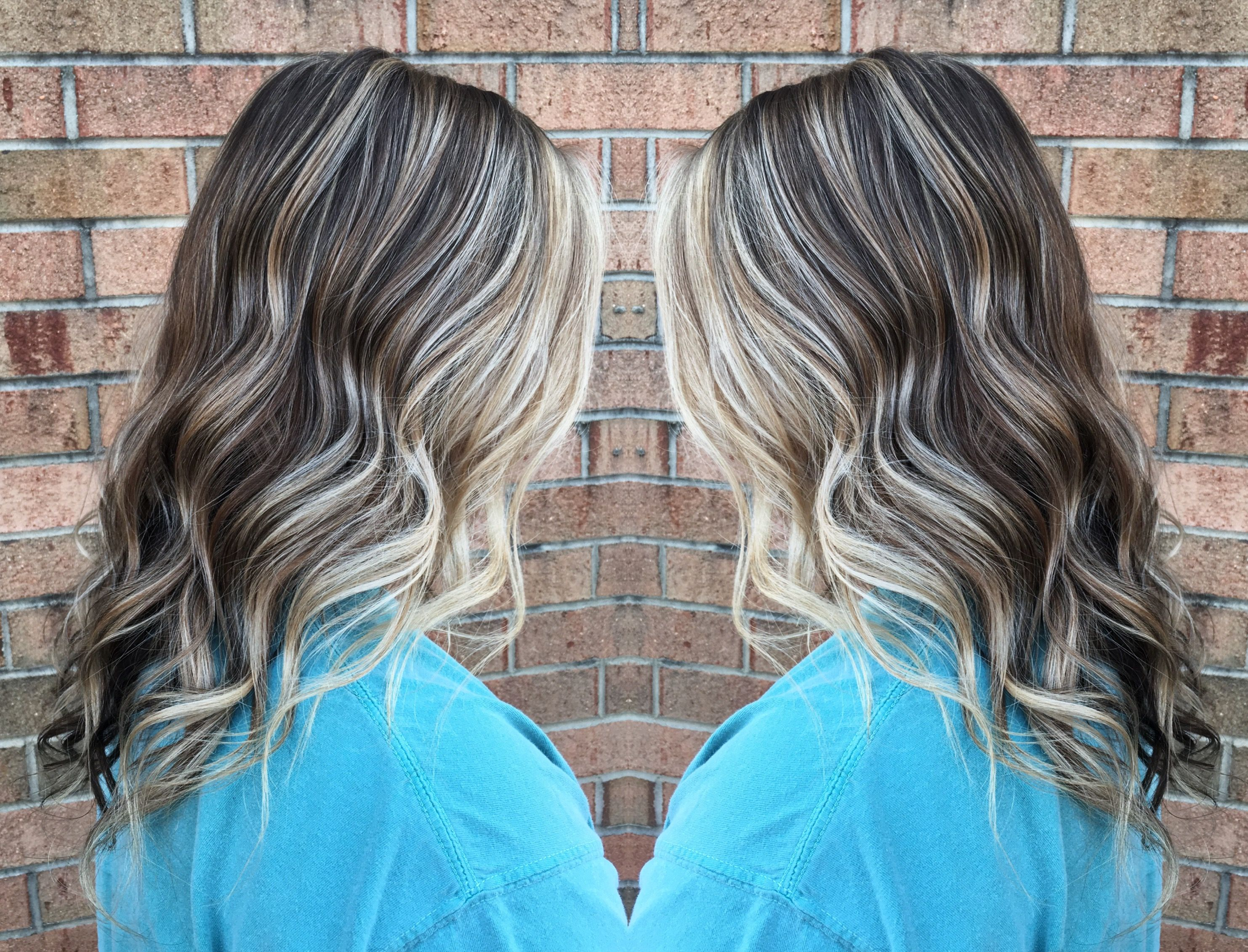 Ash Brown And Ash Blonde With Highlights Heavy Around Face With S