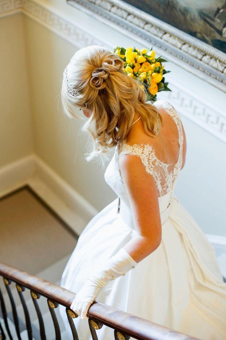 image result for wedding hairstyles half up half down medium