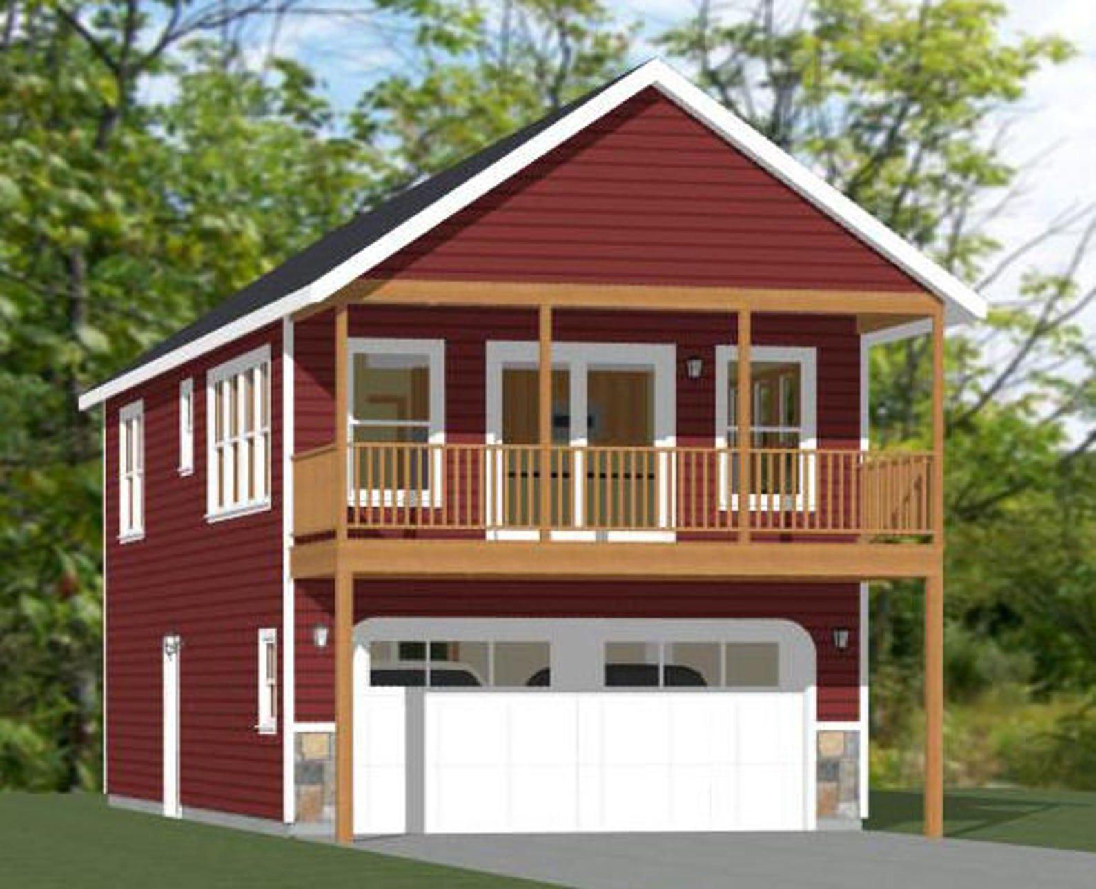 20x40 House 1 Bedroom 1.5 Bath 965 sq ft PDF Floor Etsy