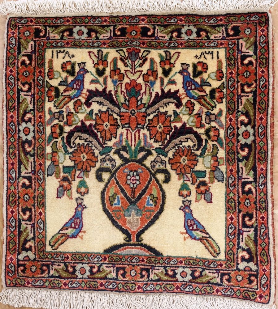 Persian Bijar Tribal Hand Knotted Wool
