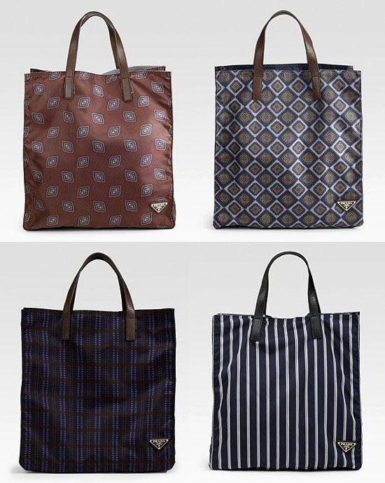 709e6ceffe57 Prada Tessuto Stampato Nylon Shopping Tote | Drool: Bags | Bags ...