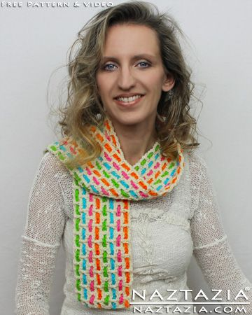 Free Pattern - Easy Crochet Colorful Weaved Woven Mesh Traditional ...