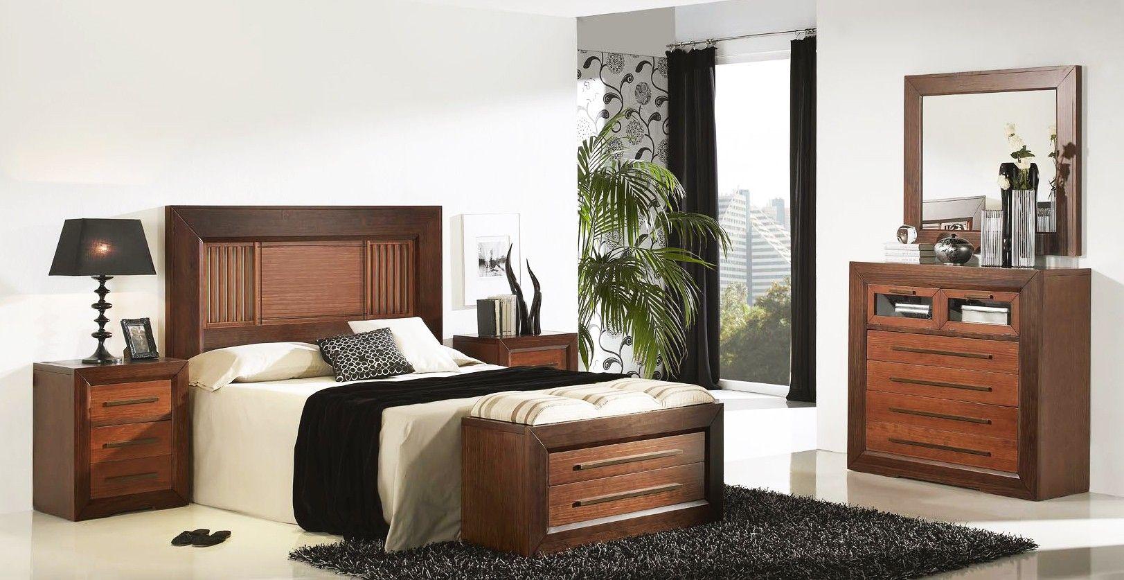 Dormitorio de matrimonio realizado en madera de pino macizo y ...