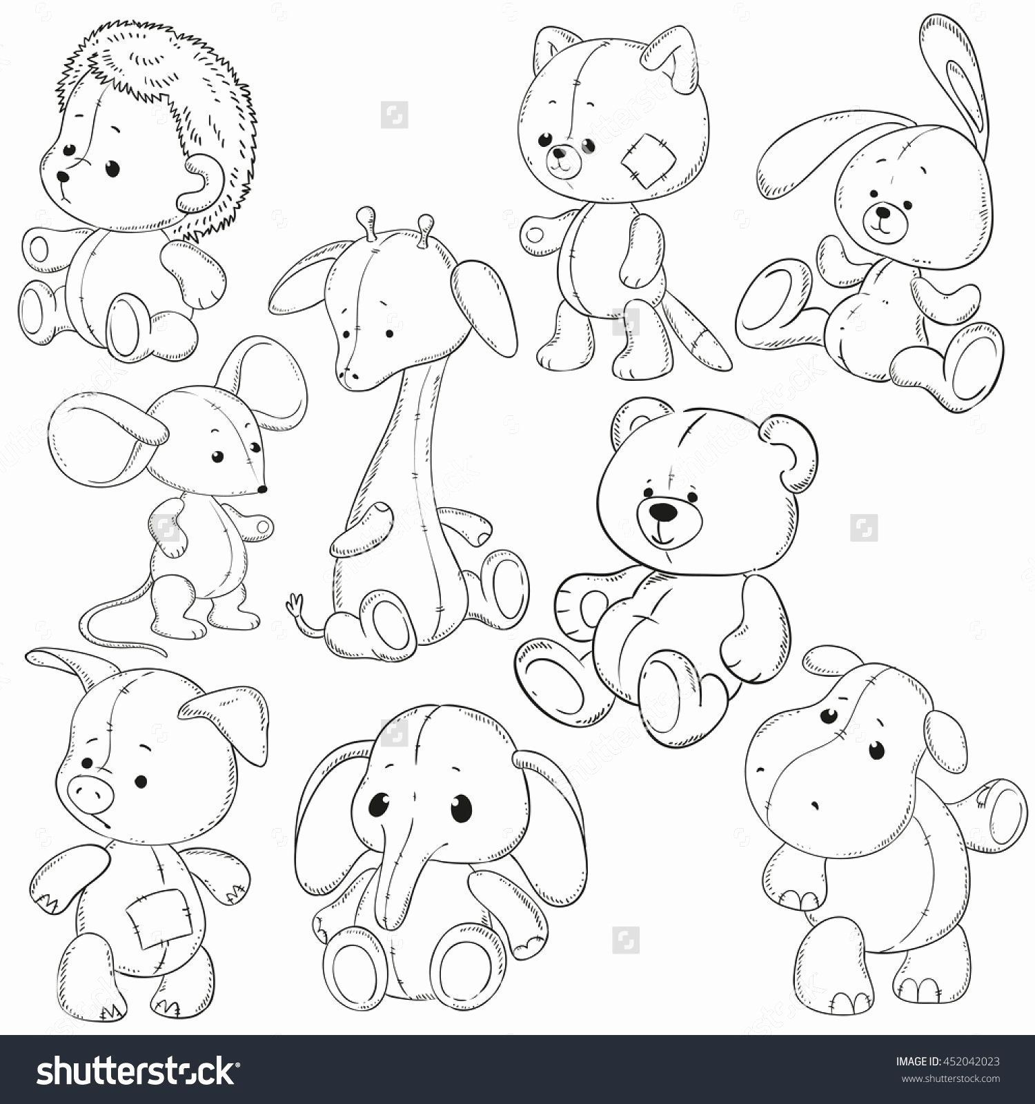 Toys Coloring Book Pdf Inspirational Collection Wolf Stuffed Animal Coloring Pag Toys Coloring Book Coloring Books Cute Animal Drawings Baby Animal Drawings