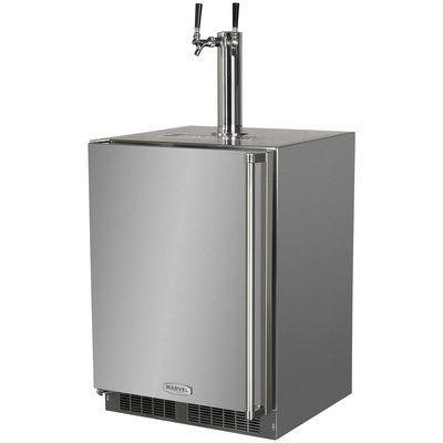 marvel 5 7 cu ft outdoor twin tap full size kegerator hinge location left outdoor kitchen on outdoor kitchen kegerator id=13926