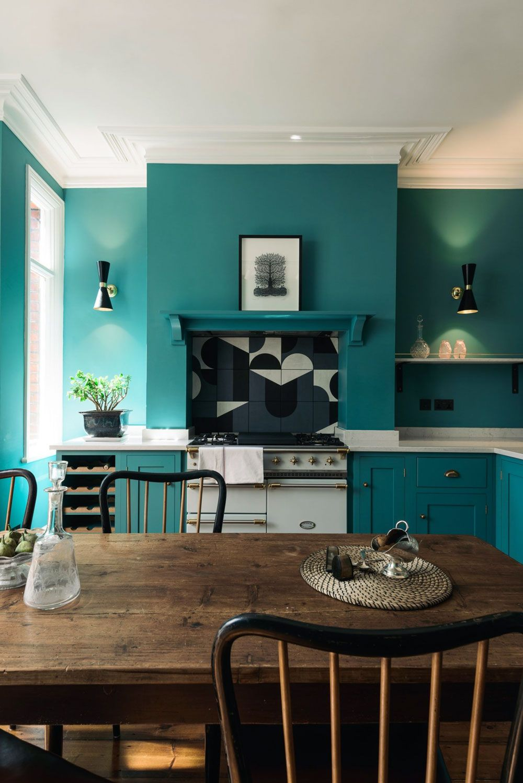 Bright Blue Kitchen Walls Sfbybay