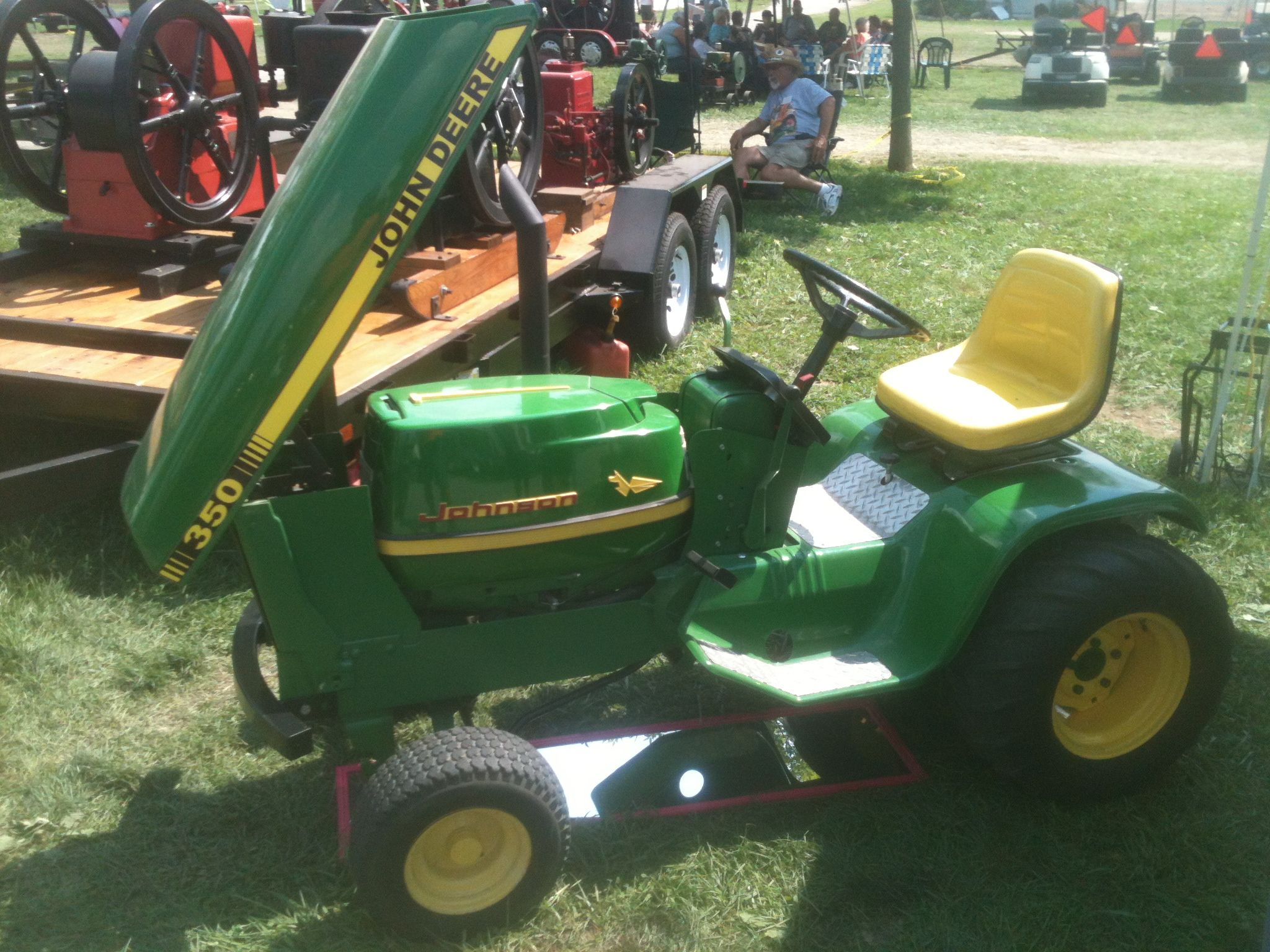 small resolution of john deere garden tractor with a johnson outboard boat motor 72 jd 110 wiring problems john deere tractor forum gttalk