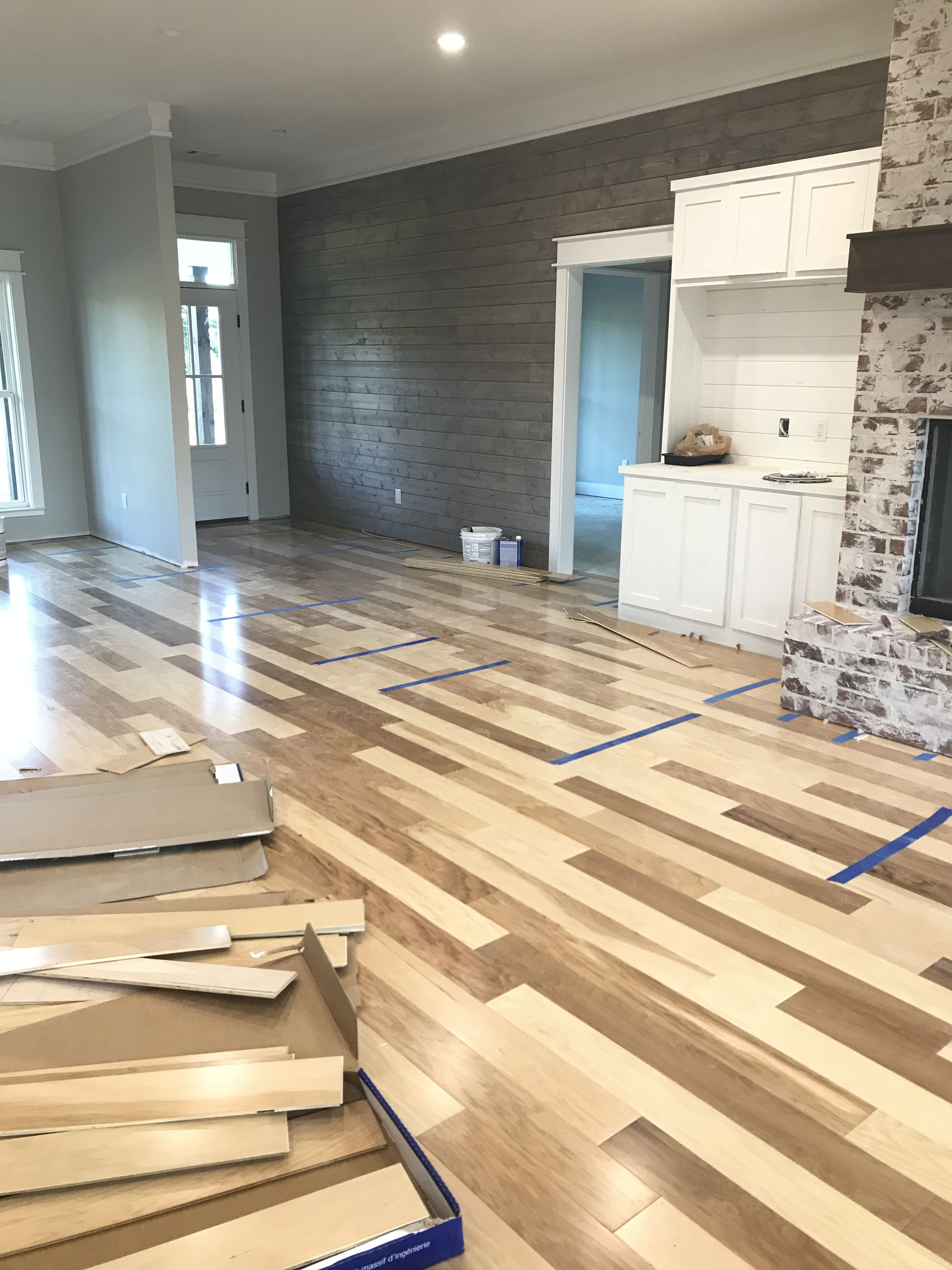 My Modern Farmhouse Natural Hickory Floor Hickory Flooring