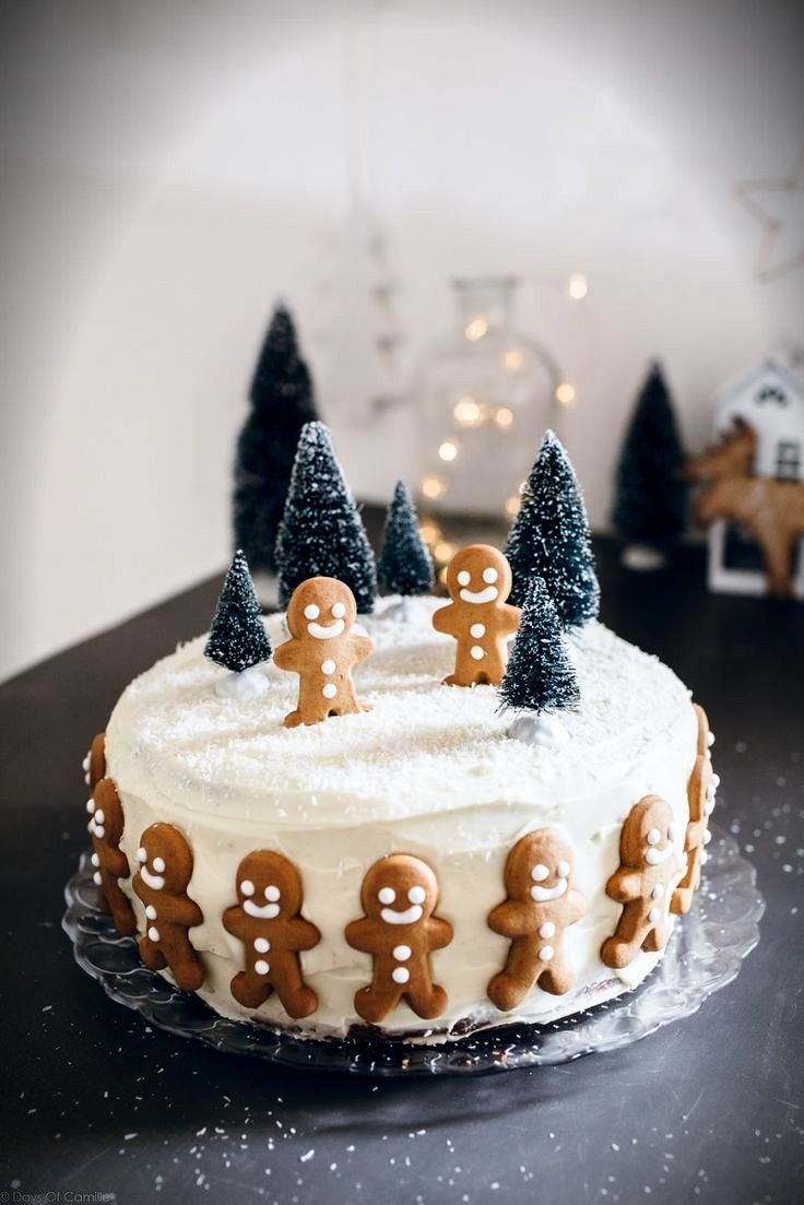 This gingerbread cake is adorable!!