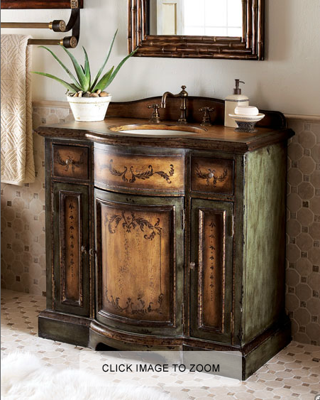 Meadow chest with sink for the home bathroom bathroom - Old fashioned bathroom furniture ...