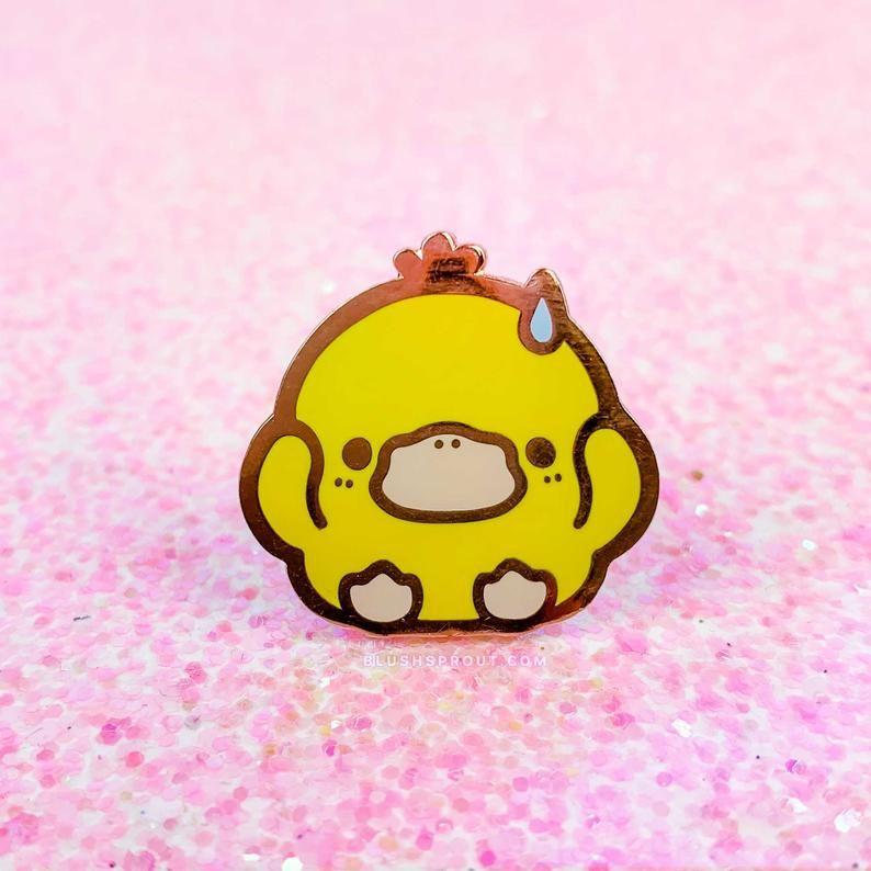 054 psyduck pin pokemon cute kawaii anime monster enamel