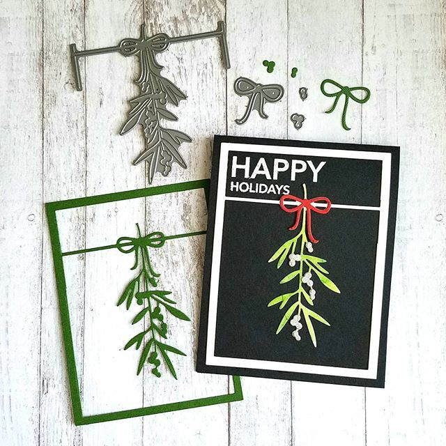 Mistletoe Card Frame Add On Dies By Concord 9th Available 10 9 9am MT