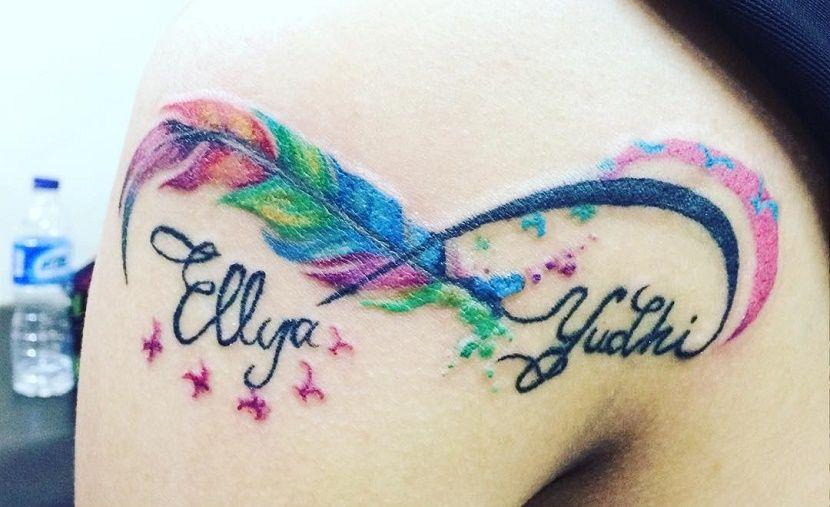 Los Tatuajes De Infinito Con Nombres Tatuajes Pinterest