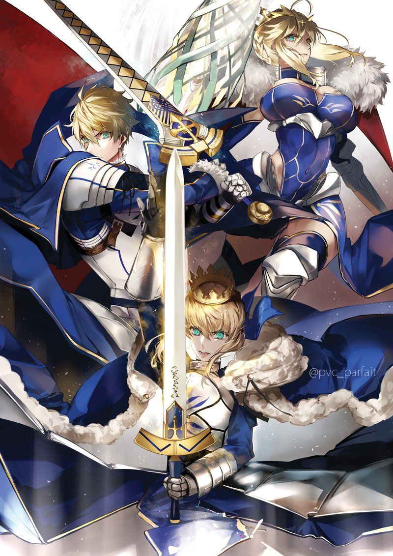 King of knight Anime, Fate anime series, Fate servants