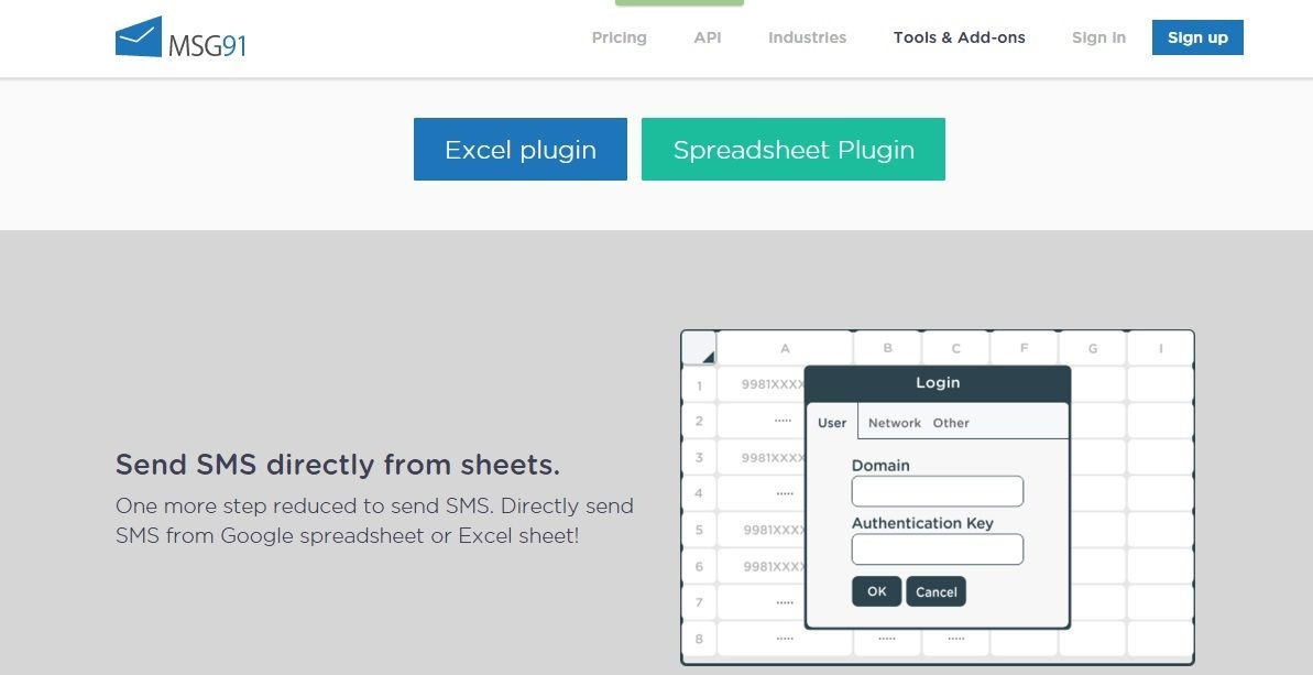 Sending Bulk SMS from Excel or Spreadsheet has become quite easy