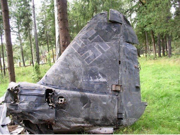 Part of Nazi aircraft tail - Eastern Front Battlefield: Amazing amount of relics are still being found