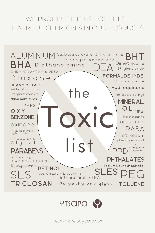 Toxic List Skincare Harmful Ingredients Clean Beauty Skin Care Tutorial Skin Care