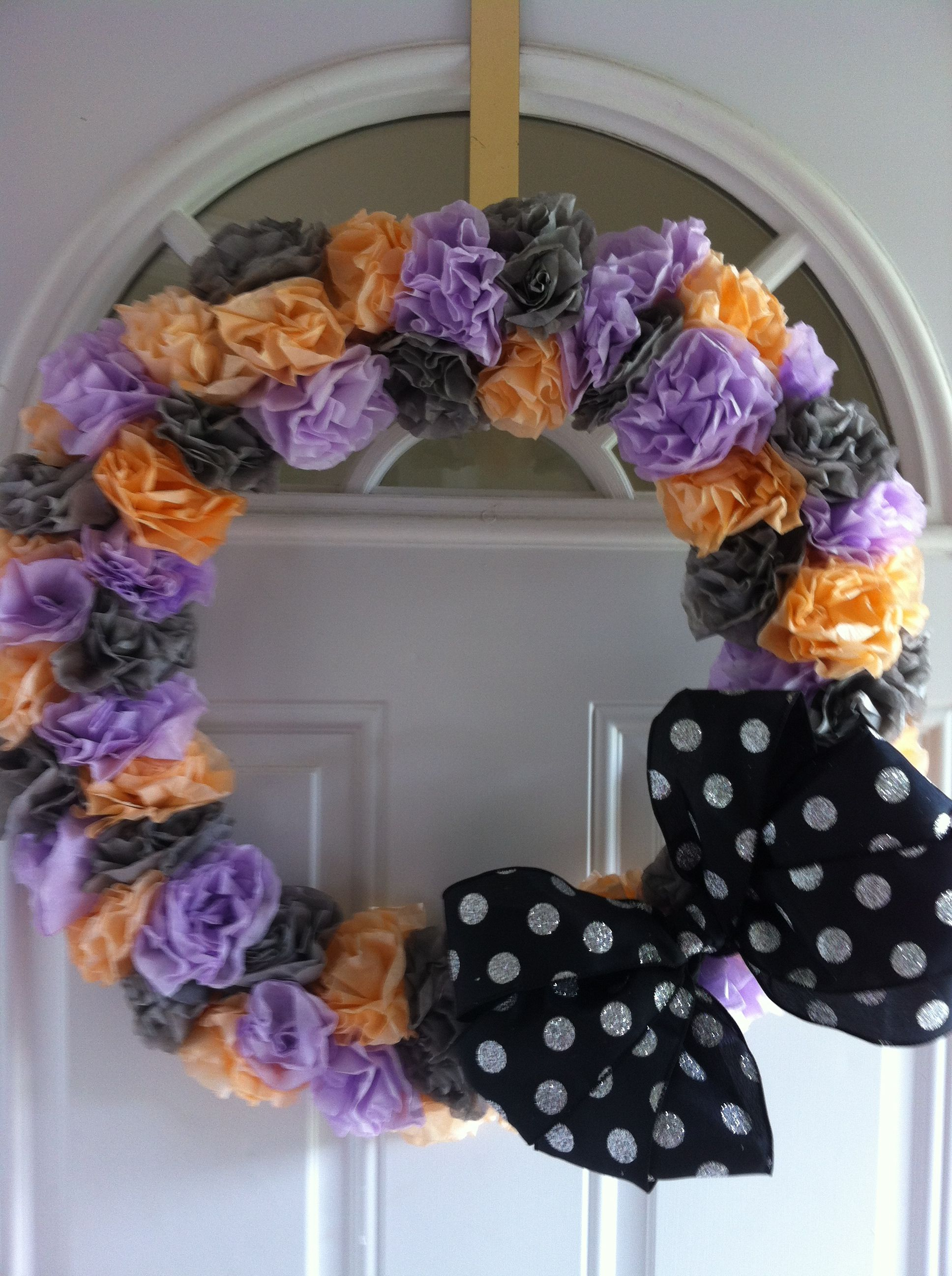 Coffee Filter Halloween Wreath