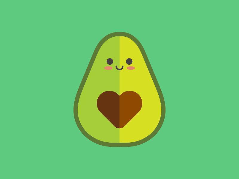 Avocado Love Avocado Cartoon Cute Avocado Kawaii Drawings
