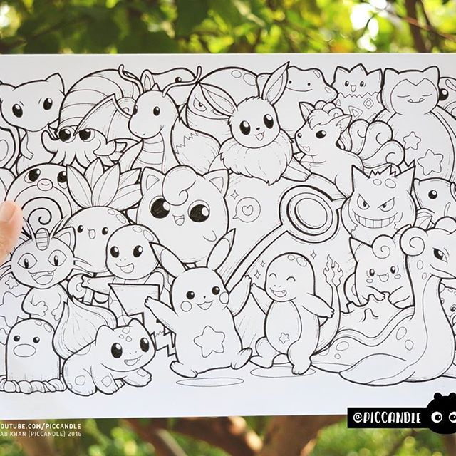 Inktober Day 11 Pokemon Inktober2016 Doodle Coloring Page