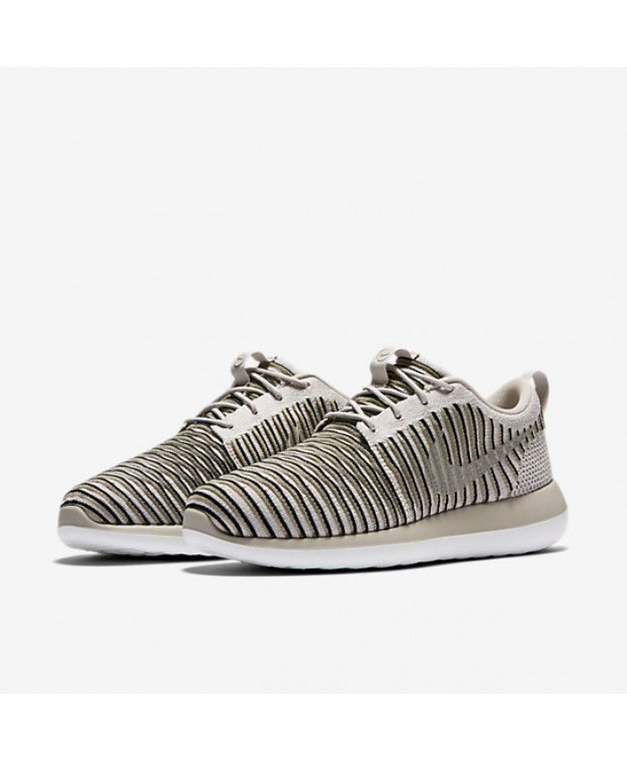 factory authentic 2058e f0ccd Nike Roshe Two Flyknit String Neutral Olive Black Womens Sale