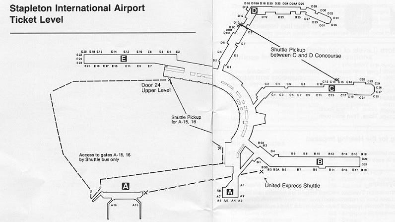 Colorado airport map on