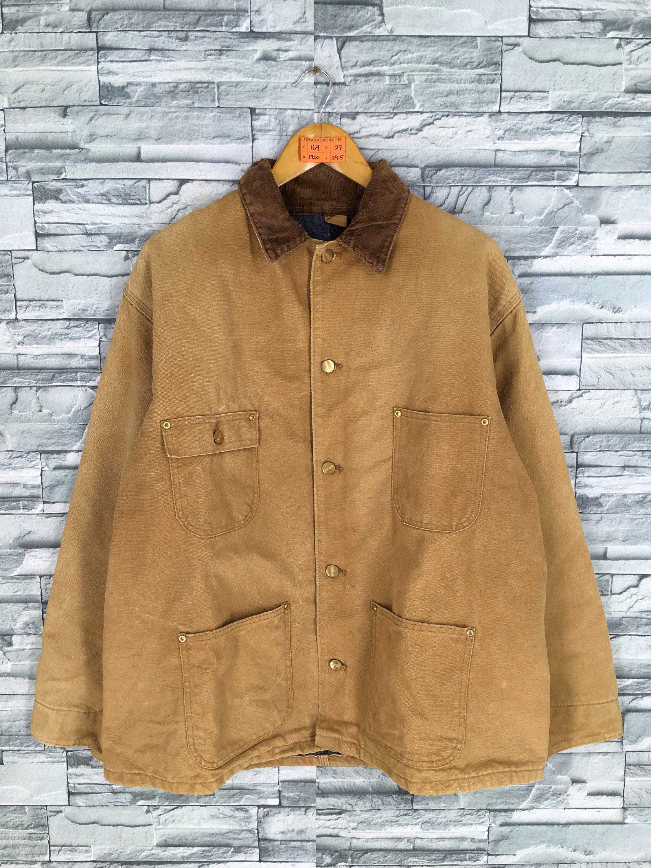 Vintage Carhartt Workwear Jacket Brown Mens Xlarge 80 S Etsy Carhartt Workwear Denim Blanket Work Wear [ 3000 x 2250 Pixel ]