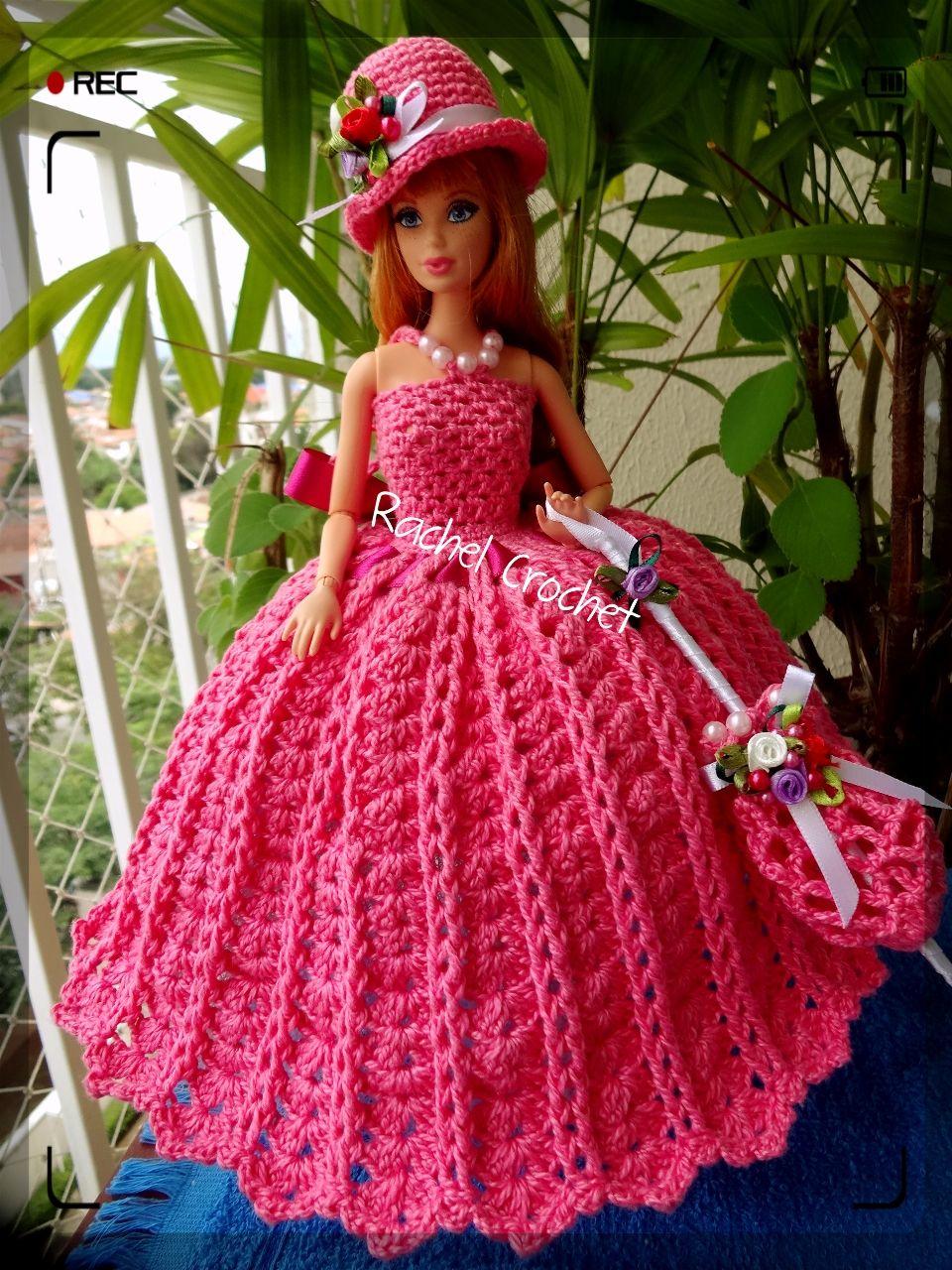 FioAnne #Doll #Crochet #Vestido #Dress #Barbie #Chapéu #Hat ...