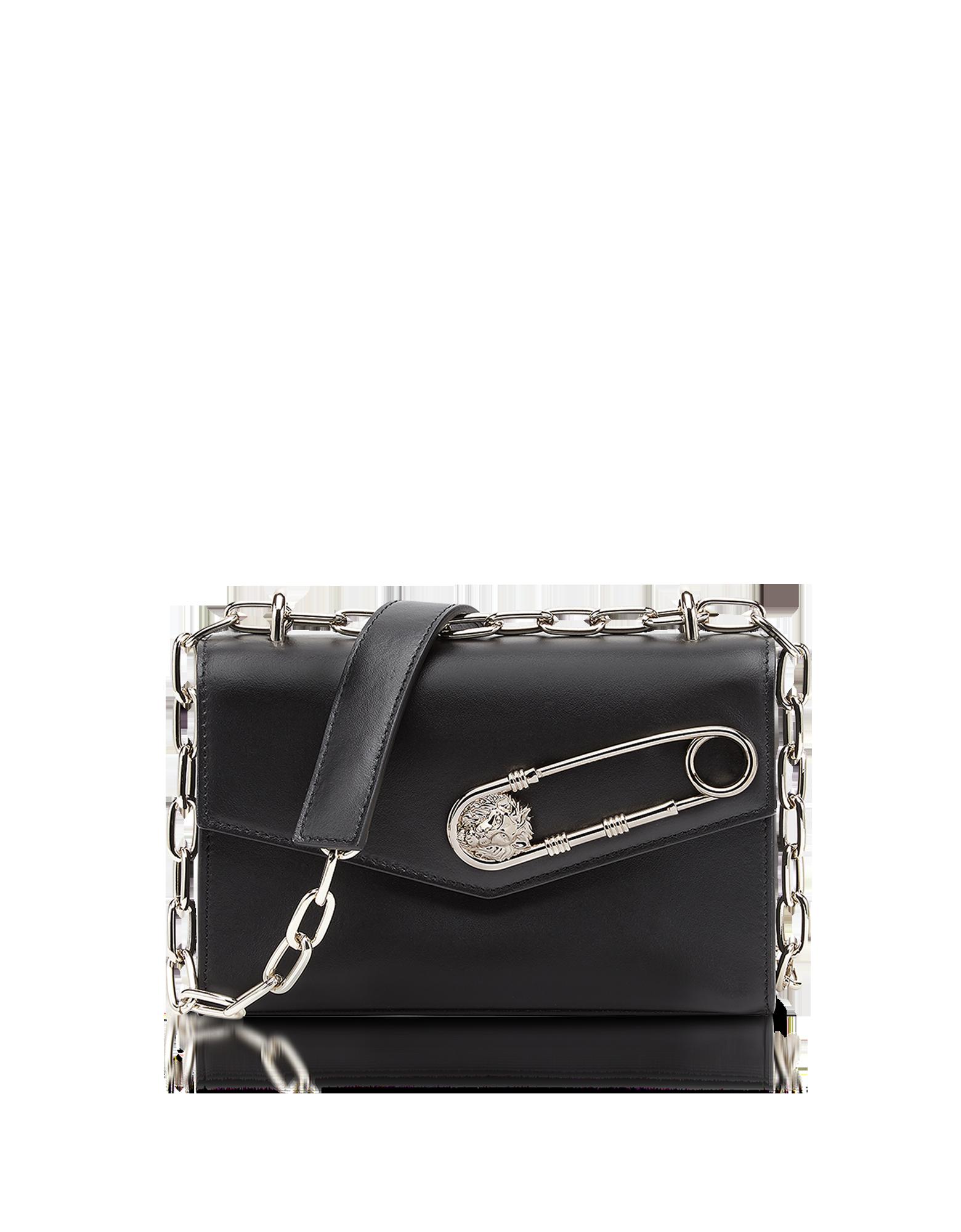 3c0f365a18d6 New Arrivals  Versace Versus - Black Leather Shoulder Bag w Safety ...