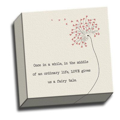 Picture it on Canvas Inspirations Once In A While Quote Graphic Art on Wrapped Canvas