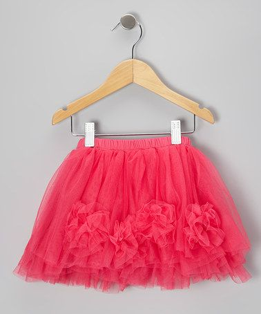 Take a look at this Dark Pink Boutique Ruffle Skirt - Toddler & Girls by Just Couture on #zulily today!