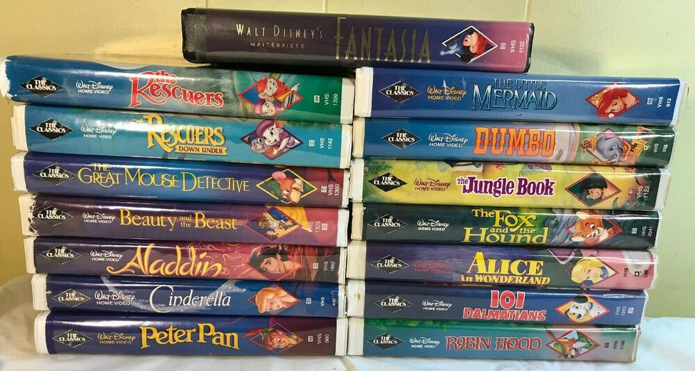 Disney Black Diamond Classics Vhs Lot Of 15 Masterpiece Fantasia Little Mermaid Disney With Images The Great Mouse Detective Disney Vhs Tapes The Little Mermaid