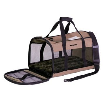 Petmate Soft Sided Plush Kennel Cab Pet Carrier