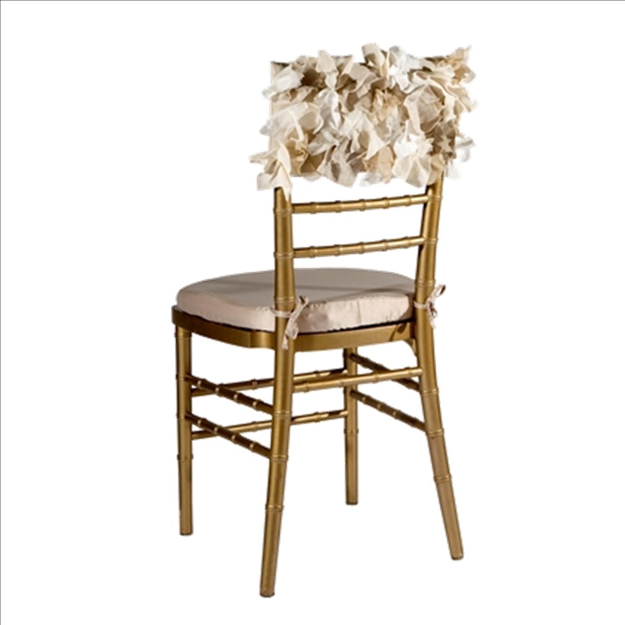 Curly Willow Organic Chiavari Chair Cap Wildflower Linen