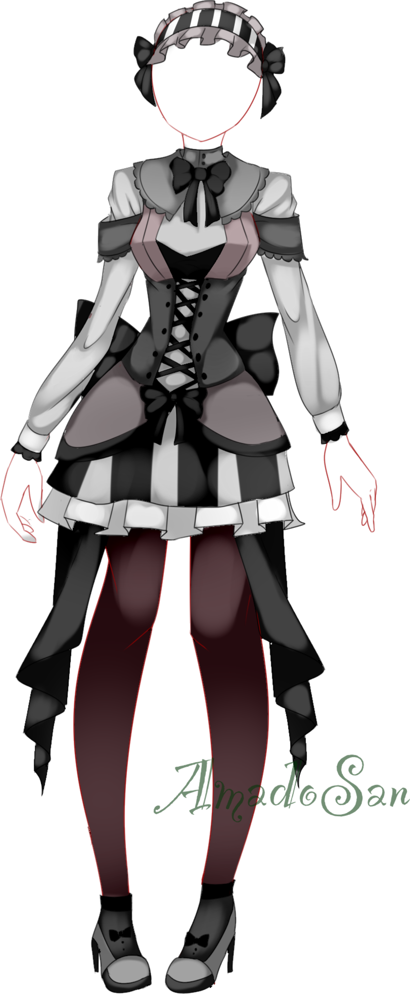 Gothic loli dress outfit adoptable CLOSED by AS-Adoptables.deviantart.com on @DeviantArt ...