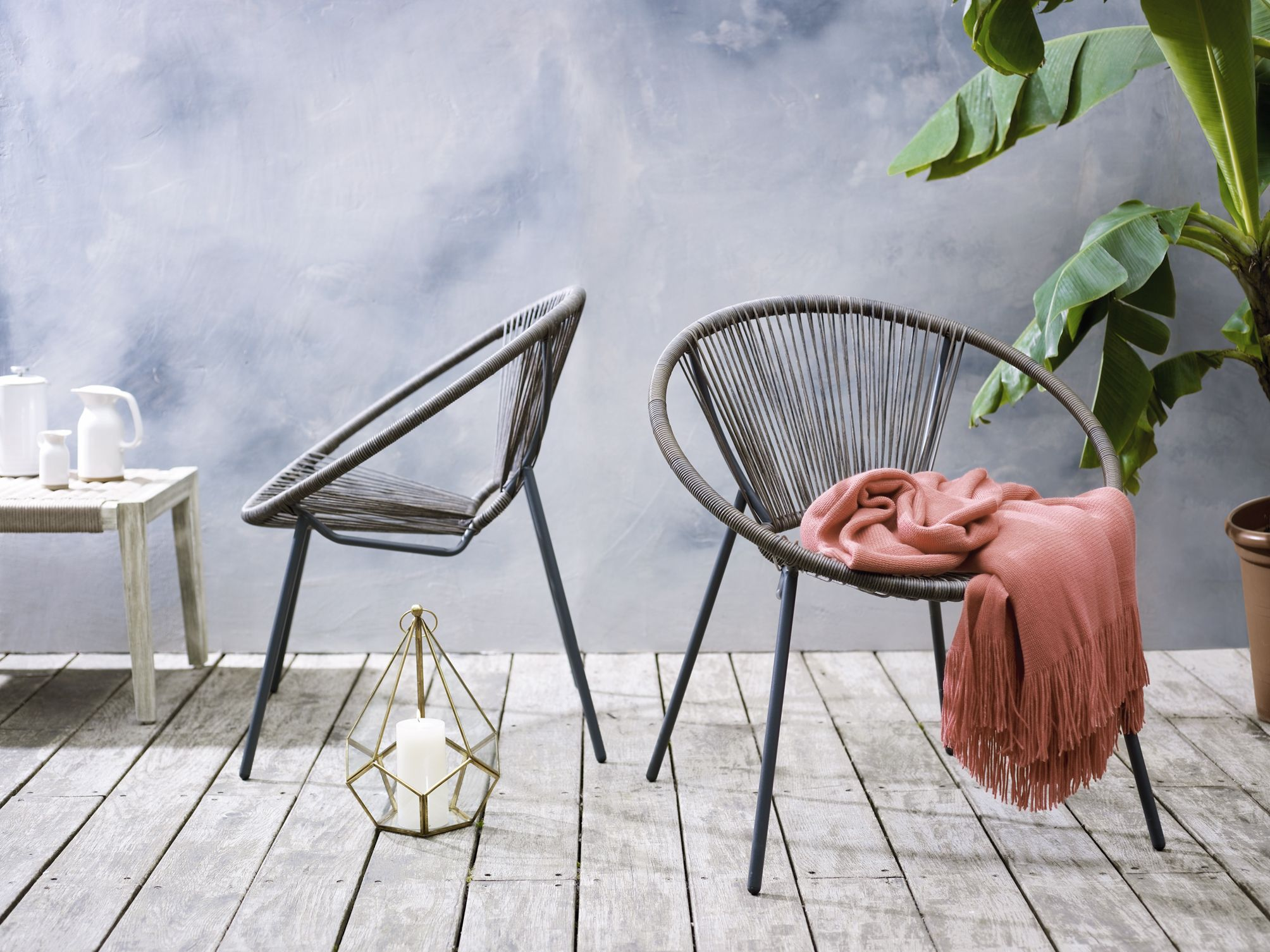 Brown Riviera Double Cushion Chair Garden Furniture Sale Bank
