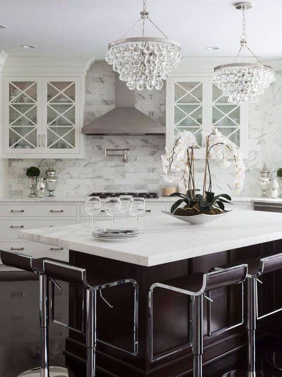 Chandeliers :: Seeing Double | Kitchens, Chandeliers and House