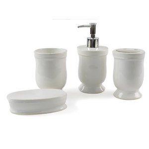 Rylan Ceramic 4 Piece Bathroom Accessory Set Bathroom Accessories Sets Bathroom Accessories Bath Accessories Set