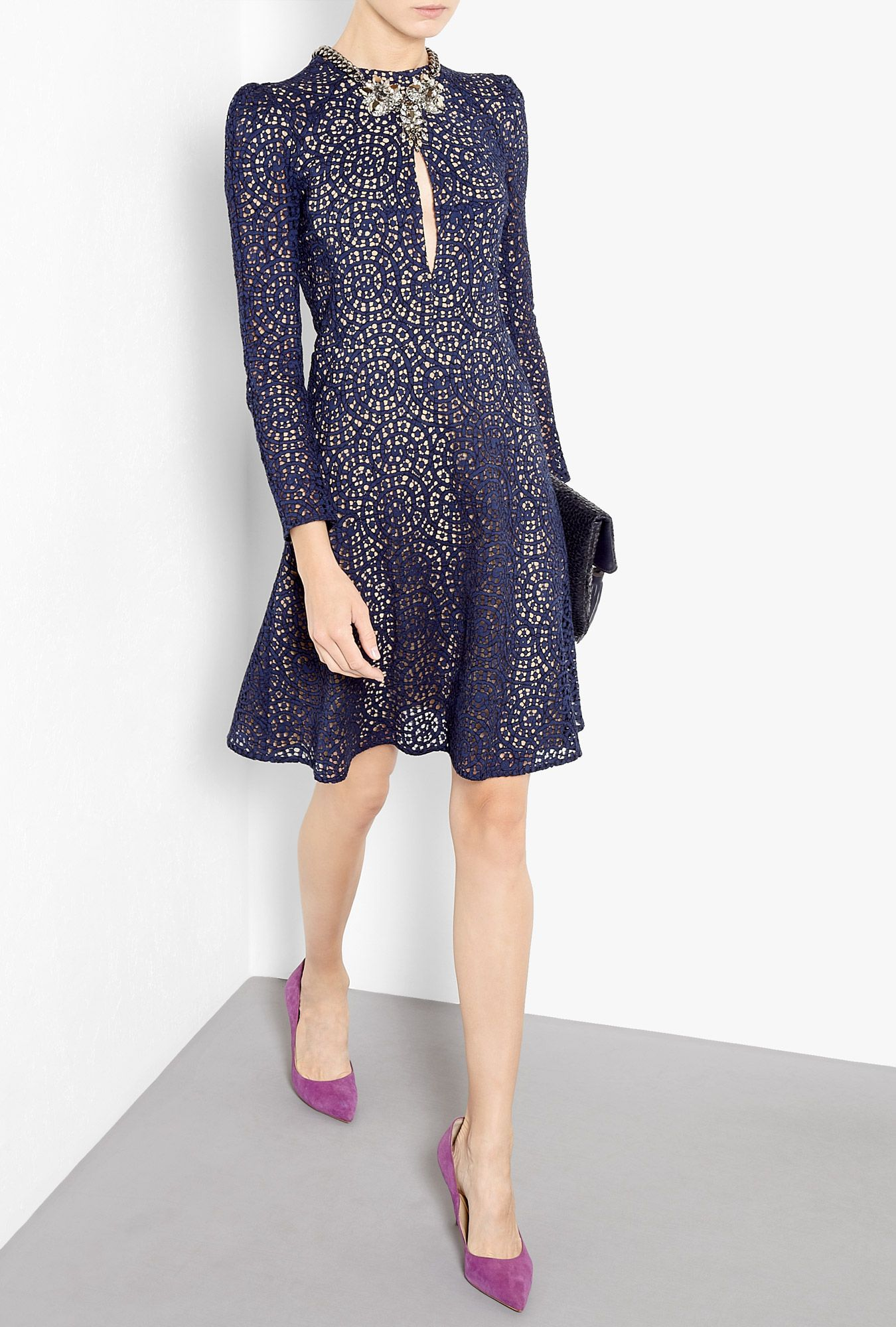 Lace Fit And Flare Dress by Carven | So Fresh + So Clean | Pinterest ...