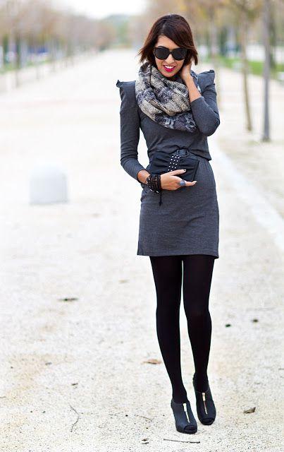 Sissy à La Mode Vestido Gris Toque Estampado Serpiente