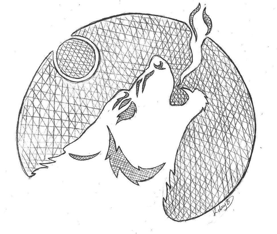 werewolf howl-pumpkin stencil by sioSIN | airbrush stencil ...