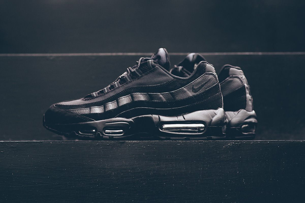 caec54cfb25 The black and anthracite edition Nike Air Max 95 is back on the racks this  season. Last seen at the start of the year