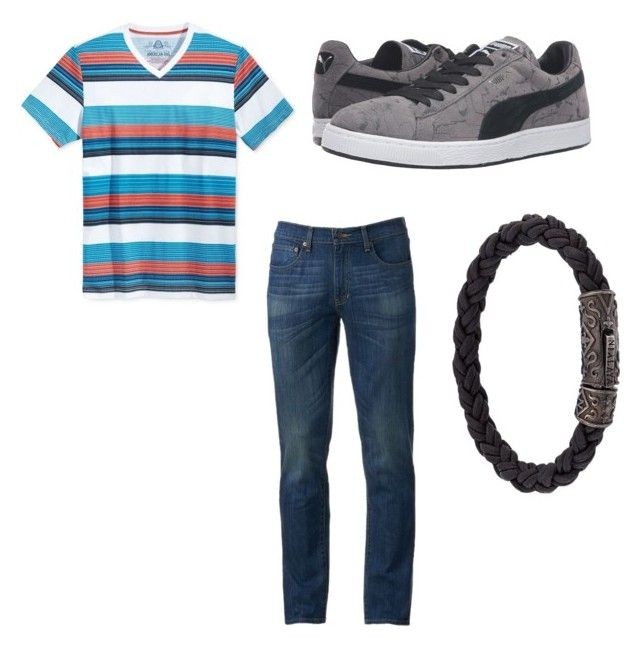 """Night At The Beach 2"" by bazinga28322 on Polyvore featuring American Rag Cie, Urban Pipeline, Puma, men's fashion and menswear"